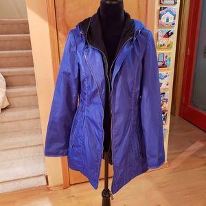 DKNY blue jacket with hood M